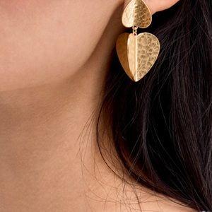 Kate Spade Gold-Tone Metal Petal Drop Earrings